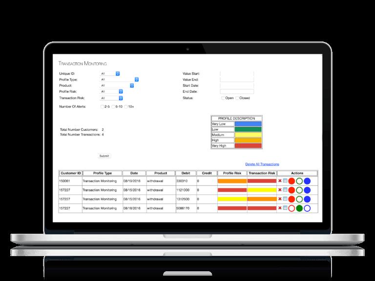 Transaction Monitoring Register